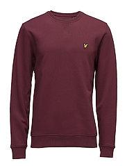 Crew Neck Sweatshirt - CLARET JUG