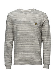 Space Dye Crew Neck Sweatshirt - MID GREY MARL