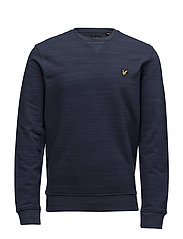 Space Dye Crew Neck Sweatshirt - NAVY