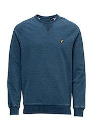 Indigo Crew Neck Sweatshirt - LIGHT INDIGO