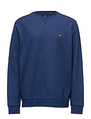 Crew Neck Mouline Sweat Shirt - NAVY