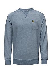 Oxford  Crew Neck Sweatshirt - LIGHT TEAL