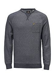 Oxford  Crew Neck Sweatshirt - NAVY
