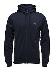 Funnel Neck Tricot Jacket - NAVY