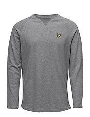 Lightweight Crew Neck Sweatshirt - MID GREY MARL