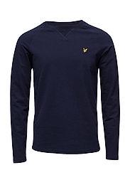 Lightweight Crew Neck Sweatshirt - NAVY
