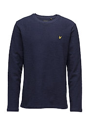 Light Weight Slub Sweatshirt - NAVY