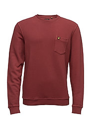 Garment Dye Sweatshirt - POMEGRANATE