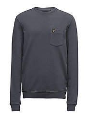 Garment Dye Sweatshirt - WASHED GREY