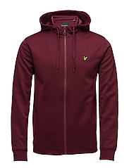 Hooded Tricot Jacket - CLARET JUG
