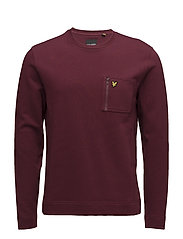 Zip Pocket Sweatshirt - CLARET JUG