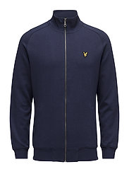 Funnel Neck Zip Through Sweatshirt - NAVY