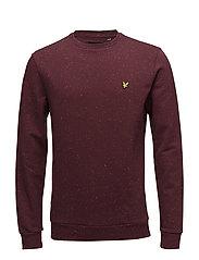 Flecked Sweatshirt - CLARET JUG