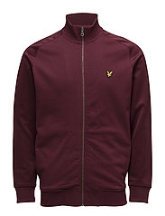 Tricot Jersey Mix Funnel Neck - CLARET JUG