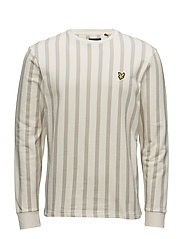 Deckchair Stripe Sweatshirt - SEASHELL WHITE