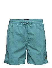 Plain Swim Short - AQUA GREEN