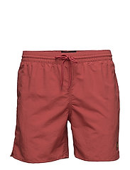 Plain Swim Short - RACING RED