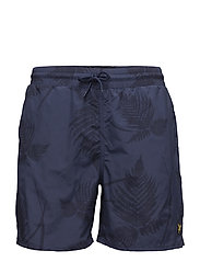 Fern Print Swimshort - NAVY