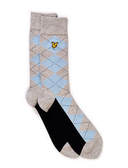 Argyle sock - Light Grey Marl