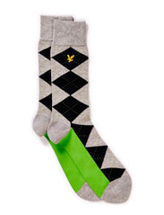 Argyle sock - Neon Green