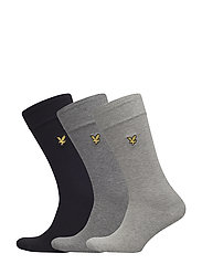 3 Pack Sock in Black Mid Grey & Light Grey - ASSORTED