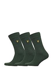 Plain Socks - 3 Packs - LEAF GREEN