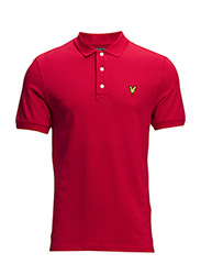 SS Plain pique polo - Royal Red