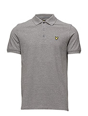 Polo Shirt - MID GREY MARL
