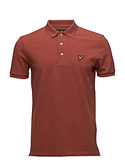 Polo Shirt - FLAME RED MARL