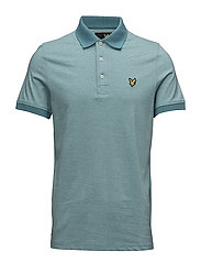 Fine Stripe Polo Shirt - PAGODA BLUE