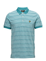 Oxford Stripe Polo Shirt - PAGODA BLUE