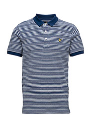 Oxford Stripe Polo Shirt - PRESENT BLUE