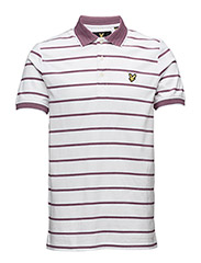 Multi-Coloured Birdseye Stripe Polo Shirt - WHITE