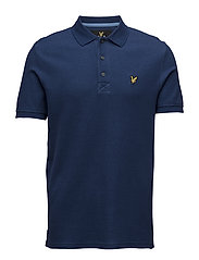 Grid Texture Polo Shirt - PRESENT BLUE