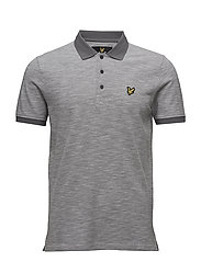 Oxford Slub Polo Shirt - MID GREY MARL