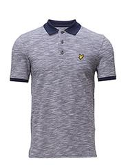 Oxford Slub Polo Shirt - NAVY