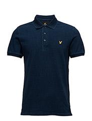 Indigo Pique Polo Shirt - DARK INDIGO