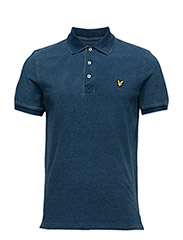 Indigo Pique Polo Shirt - LIGHT INDIGO
