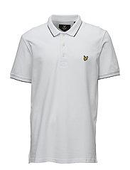 SS Jacquard Collar Oxford Polo Shirt - WHITE