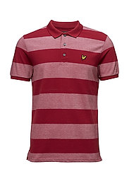 Wide Stripe Polo Shirt - RUBY