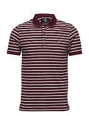 Breton Stripe Polo Shirt - CLARET JUG