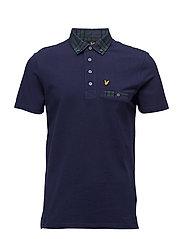 Woven Collar Polo Shirt - NAVY