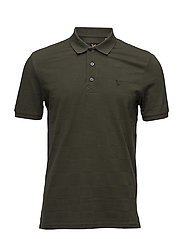 Checker Block Polo Shirt - DARK SAGE