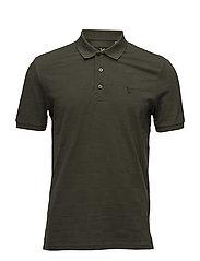 Checker Block Polo Shirt - DARK SAGE