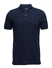 Checker Block Polo Shirt - NAVY