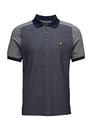 Reverse Birdseye Saddle Shoulder Polo Shirt - NAVY