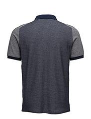 Reverse Birdseye Saddle Shoulder Polo Shirt