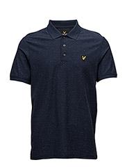 Brushed Flecked Polo Shirt - NAVY