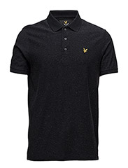 Brushed Flecked Polo Shirt - TRUE BLACK