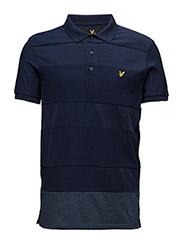 Reverse Stripe Polo Shirt - NAVY